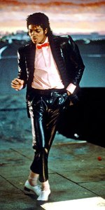Michael Jackson in Billy Jean video in 1983