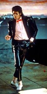Michael Jackson in Billy Jean video in 1983
