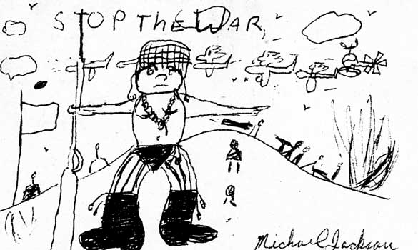 Michael Jackson drawing when he was 13 yrs old